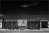 MobilGas, Outhouse, near Gerlach, Nevada .... [7D.IR.2017.8026]