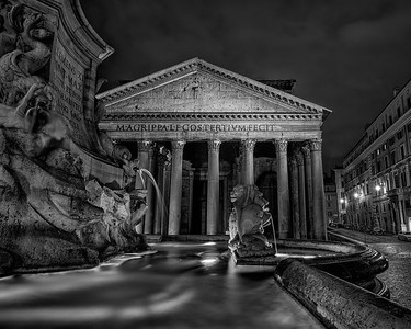 Nighttime View of the Pantheon