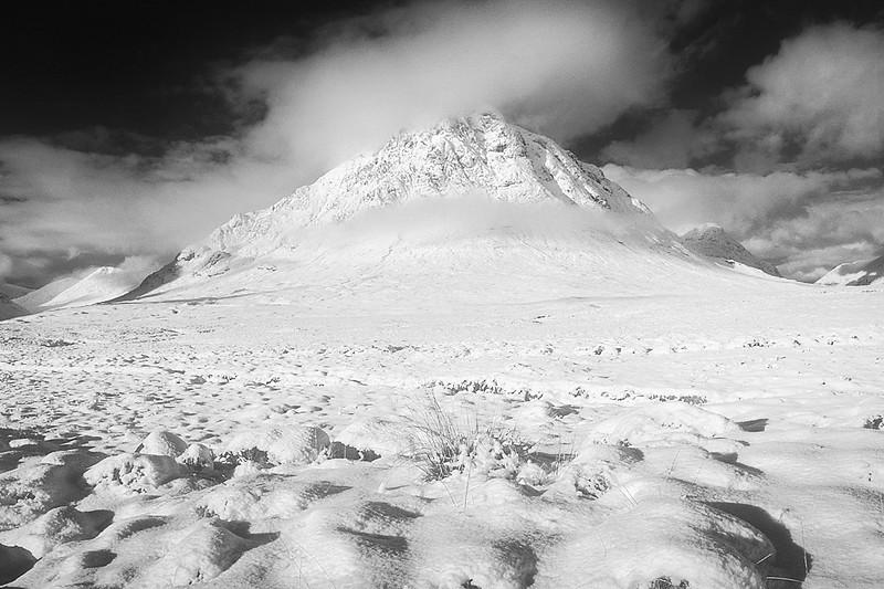 Winter Buachaille Etive Mor Glencoe Scotland.