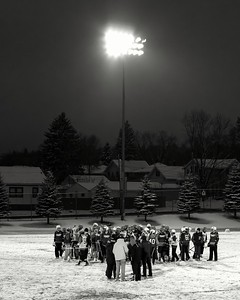 Lacrosse in the Snow