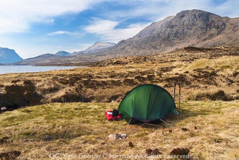 Photo 3299: Camp site at Lochan Fada