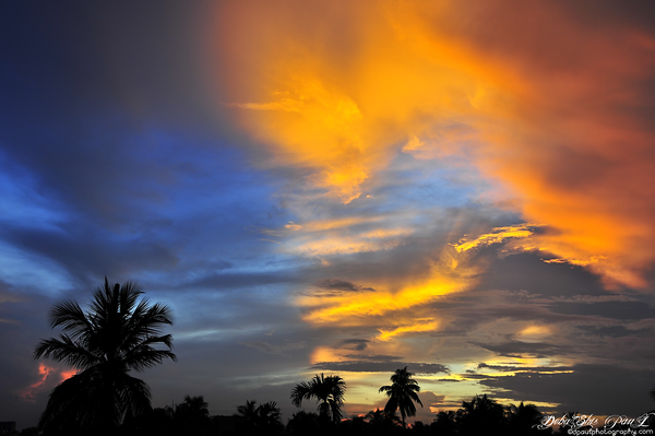 Sunset from Apartment, Kolkata - India