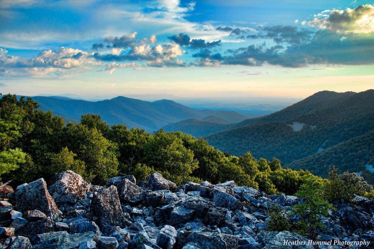 Blackrock Summit in the Shenandoah National Park