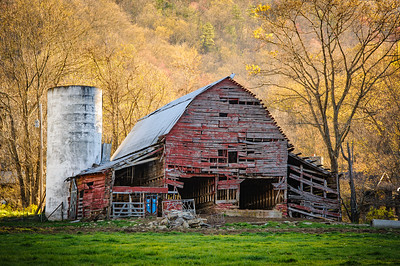 Worn Red Barn