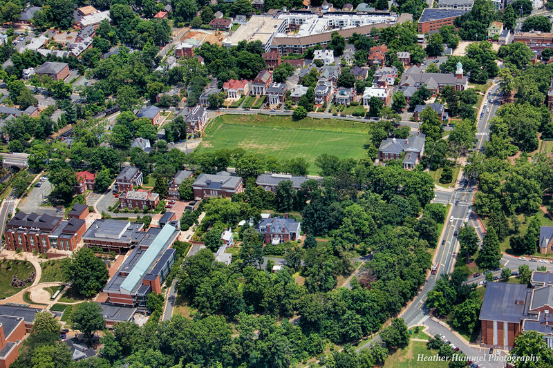 The University of Virginia captured from above in a Cessna plane.