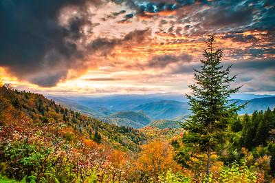 Autumn Blue Ridge Mountain Sunset
