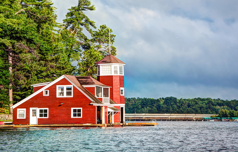 Boathouse on Lake Minocqua