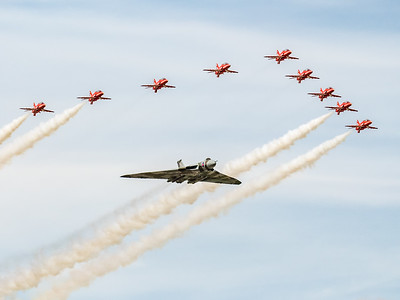 Vulcan and Red Arrows Flypast