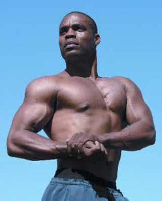 Kenneth Williams, USA: Professional vegan body builder, model, personal trainer, spokesman and vegan campaign coordinator for In Defense of Animals.