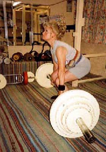 Pat Reeves, UK: Pat has retained her British Masters' Powerlifting title for many years, representing Great Britain twice, and holding many Divisional, Commonwealth and Masters' records – despite being diagnosed over a decade ago bone cancer, now considered 'terminal'. However, Pat remains mostly in remission, which she believes is attributable to the naturopathic therapy she has always applied.
