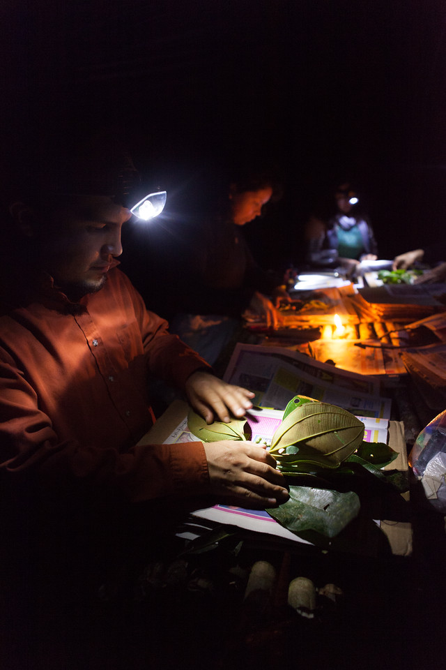 Base Camp, Tintaya Plot Expedition, Madidi, Bolivia. Left: Sebastian Tello