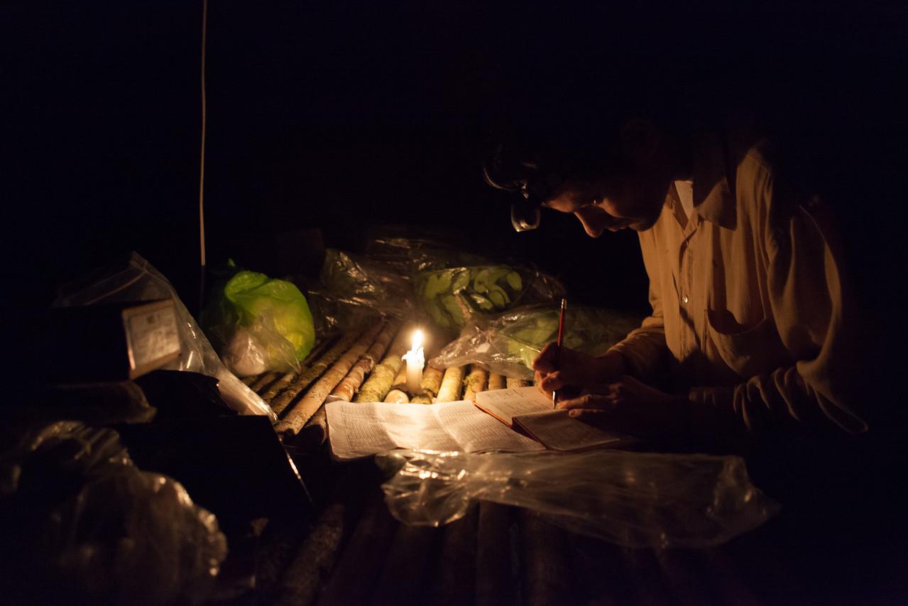 Base Camp, Tintaya Plot Expedition, Madidi, Bolivia. Pictured: Ivan Jimenez