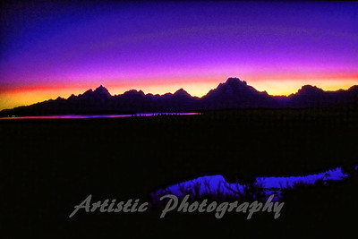 Grand Tetons Sunset