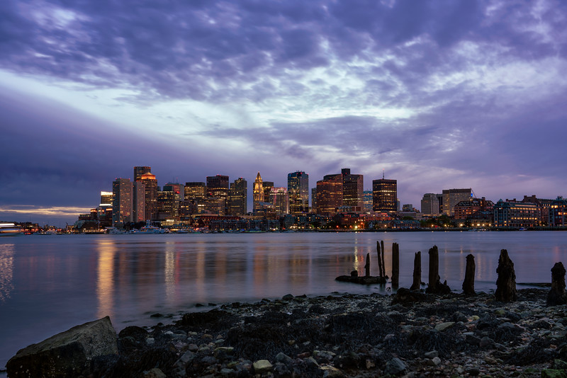 Boston Cityscape I, Night