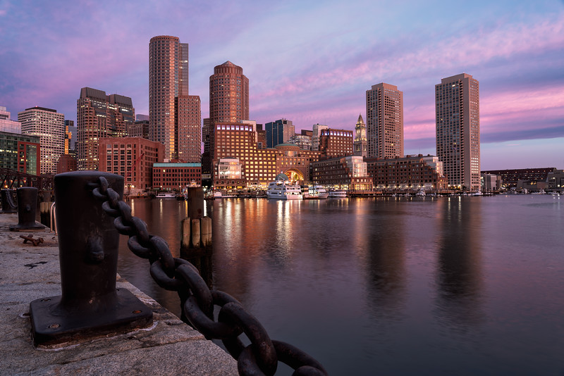 Boston Sunrise, Fan Pier Park