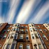 Long Exposure Cloud Movement over 1900s Boston Architecture, Rear of Hampton Court Brookline Massachusetts
