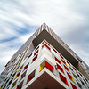 Long Exposure looking up Modern Architecture by Steven Holl, MIT Simmons Hall - Cambridge MA USA
