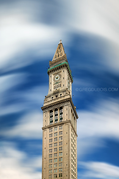 Custom House Clock Tower in Boston Massachusetts