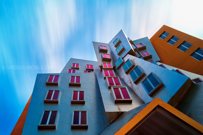 Looking up Modern Architecture by Frank Gehry, MIT Stata Center Cambridge Massachusetts