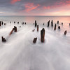 Deer Island Decayed Pier at Sunrise in Boston Massachusetts