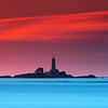 Boston Light from Lovells Island at Sunrise with Atlantic Horizon