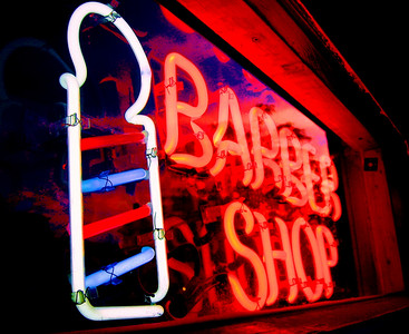 Neon Barber.