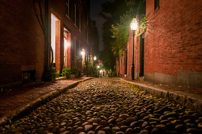 Cobblestone at Night