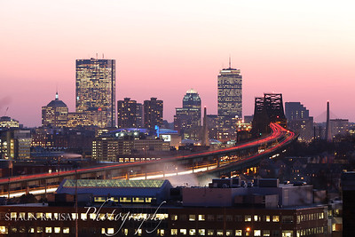 Boston Bridges at Dusk