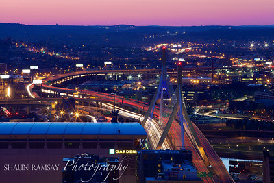 Expressway and the Zakim Bridge