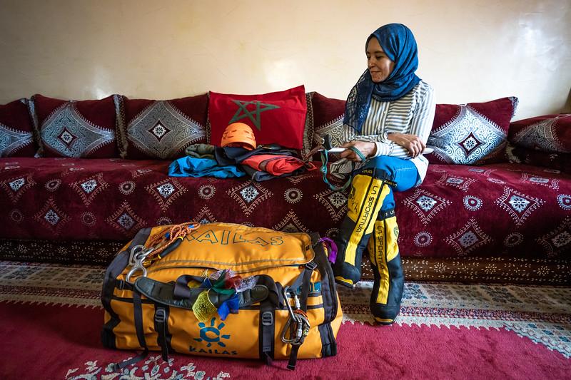 Bouchra Baibanou Prepares for Her Last Climb - Mt. Vinson