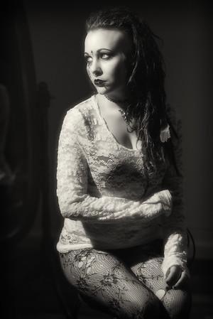 Boudoir Noir - Harley Quinn<br /> <br /> #photographer #glamour #noir #blackandwhite #boudoirnoir #charlottephotographer #filmnoir