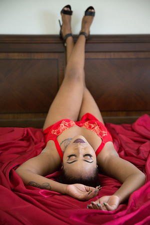 boudoir session with Kerriann