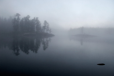 Morning Mist on Iron Lake