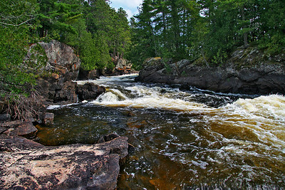 Rapids at Lower Basswood Falls