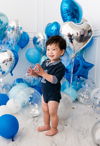 first birthday party balloons baby boy
