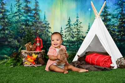 baby camping photo set