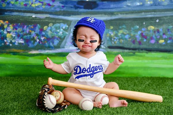 Los Angeles Dodgers Baby Photo