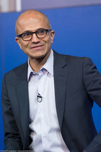 Satya Nadella, CEO of Microsoft, speaking at a CIO Summit.