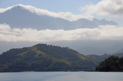 The mountainous coast near Angra