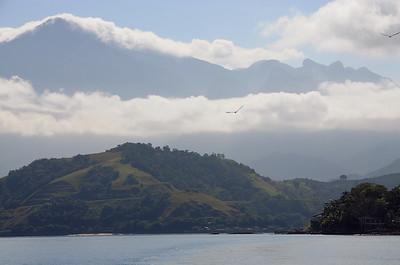 The mountainous coast near Angra