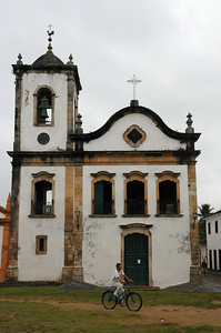 Church in the colonial town of Paraty