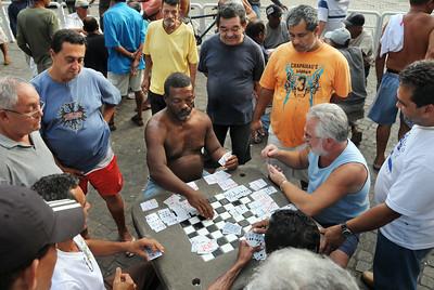 Card game, downtown Angra