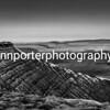 Early morning looking towards Corn Du, Brecon Beacons National Park, mono.