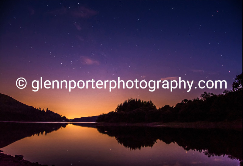 A starry evening at Pontsticill Reservoir