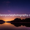 A starry evening at Pontsticill Reservoir, Brecon Beacons National Park.