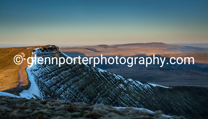 Early morning view looking towards Corn Du, Brecon Beacons National Park.