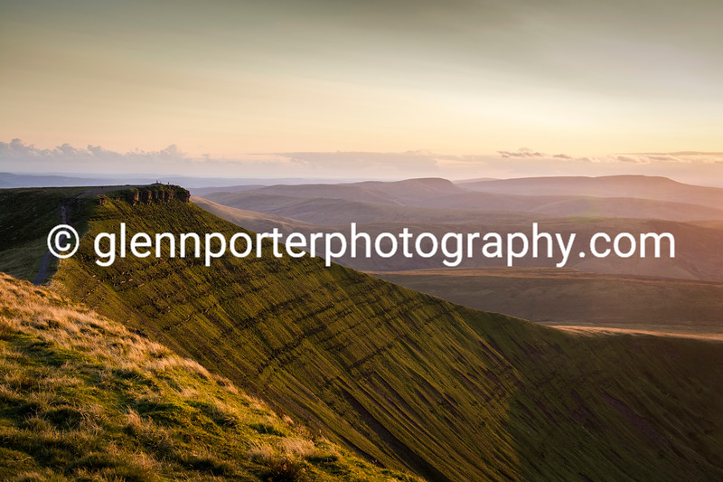 Evening View of Corn Du, Brecon Beacons, National Park – taken on a summers evening from Pen y Fan.