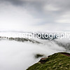 Cloud inversion from the summit of Pen y Fan, Brecon Beacons National Park.