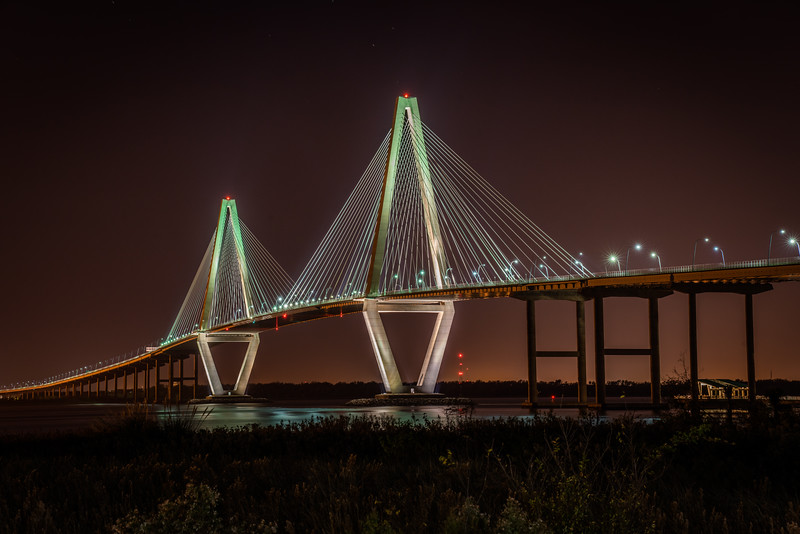 Ravenel Bridge by NIght