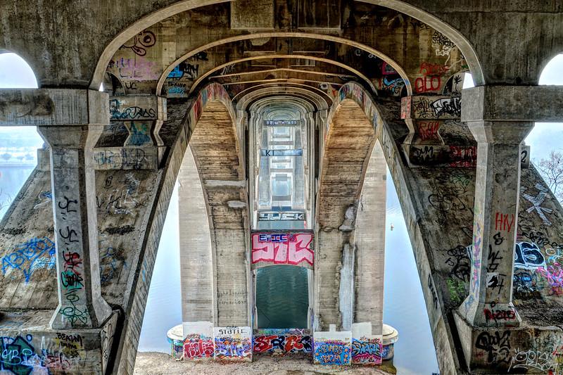 Under the Ford Avenue Bridge
